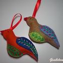 madárkák dísz, Dekoráció, Karácsonyi, adventi apróságok, Ünnepi dekoráció, Karácsonyi dekoráció, Filcből készült madarak.750ft/db., Meska