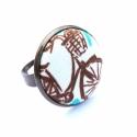Amszterdami drótszamár - gyűrű, Ez a gyűrű 23 mm átmérőjű, állítható gyű...