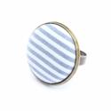 Nyári kollekció - matróz csíkos gyűrű, Ez a gyűrű 23 mm átmérőjű, állítható gyű...
