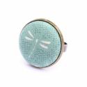 Nyári kollekció - türkiz szitakötős gyűrű, Ez a gyűrű 23 mm átmérőjű, állítható gyű...