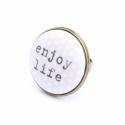 enjoy life gyűrű, Ez a gyűrű 23 mm átmérőjű, állítható gyű...