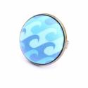 Nyári kollekció -hullámok - gyűrű, Ez a gyűrű 23 mm átmérőjű, állítható gyű...