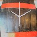 Hordó donga - falióra, Dekoráció, Otthon, lakberendezés, Falióra, óra, Egyedi tervezésű és készítésű. Színtelen páccal kezelve. Külső átmérő 40*30 cm , Meska