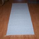Szürke-fehér pamut futó szőnyeg PSZ-63, Otthon, lakberendezés, Lakástextil, Szövés, Szürke-fehér tarka szőnyeg.70 cm x 200 cm.  100% természetes alapanyagból. Otthonod minden helyiség..., Meska