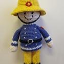 Horgolt Sam a tűzoltó, Gyerek & játék, Játék, Baba játék, Teljesen horgolással készítettem el Sam a tűzoltó mesefiguráját, aki nagyon várja már új gazdáját.  ..., Meska