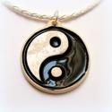 Yin és Yang , Ékszer, Nyaklánc, Kerámia, A Yin és Yang negatív és pozitív, víz és tűz, nő és férfi, az őselemek egymásra hatásának jelképe. ..., Meska