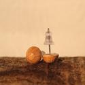 Pöttyfüli, Ékszer, Fülbevaló, Kerámia, Kézzel készített kerámia fülbevaló fazekas sárga (mustár sárga) mázzal mázazva., Meska