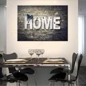 Otthon, HOME  vászonkép, Dekoráció, Esküvő, Kép, Nászajándék,   Mit jelent az a szó, hogy otthon? Egy hely ahová hazatérsz, család, az életed... egy jól elt..., Meska