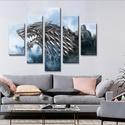 Trónok harca - Winter - öt részes vászonkép, Otthon, lakberendezés, Dekoráció, Falikép, Kép, Mérete: 140 cm * 100 cm  Festővászon falikép 5 részből A képet kiváló minőségű festővá..., Meska