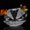 Üveg kavics, Otthon, lakberendezés, Asztaldísz, Kaspó, virágtartó, váza, korsó, cserép, Casting módszerrel formázót üveg tárgy. Az üveg mely egy nagyméretű kavicsra hasonlít akár..., Meska