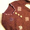 Patchwork pulcsi danivikco részére :), Vidám, és puha puha pulcsit készítettem countr...