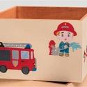 Tűzoltós tároló, doboz, Baba-mama-gyerek, Dekoráció, Otthon, lakberendezés, Gyerekszoba, , Meska