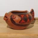 halacskás mécsestartó , Képzőművészet, Dekoráció, Dísz, Vegyes technika, mexikói mintázatú halacska formájú kis tálka , mécsestartó , 12-13 cm, Meska