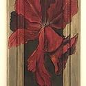 Pipacs antik fa kretben, Dekoráció, Kép, Festészet,  --Pipacs - cimű alkotás prespán lapra vegyes technikával készűlt ( olaj - akríl ) festmény  Antik ..., Meska