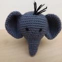 Szürke ormányos, Baba-mama-gyerek, Játék, Baba-mama kellék, Játékfigura, Horgolás, Horgolással készítettem ezt a pici elefántot.  Nagyon egyedül érzi magát, keresi hűséges barátját :..., Meska