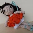 Amigurumi balerina baba , Baba-mama-gyerek, Játék, Baba-mama kellék, Játékfigura, Horgolás, Horgolással, amigurumi technikával  készítettem ezt a pici babát.  Szemei biztonsági szemek, ruhája..., Meska
