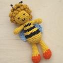 Maja a méhecske, Baba-mama-gyerek, Játék, Baba-mama kellék, Játékfigura, Horgolás, Horgolással, amigurumi technikával  készítettem a képen látható méhecskét.  Szeme, szája hímzett.  ..., Meska