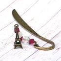Párizsból szeretettel - könyvjelző , Ékszer, óra, Naptár, képeslap, album, Könyvjelző, Romantikus hangulatú, Eiffel torony medállal díszített könyvjelző az olvasás és Párizs szerelmeseine..., Meska
