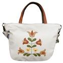 Madárkás, tulipános táska (bézs), Népi ihletésű, saját tervezésű minta került...