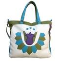 Népi mintás tulipános táska (bézs), Táska, Válltáska, oldaltáska, Tulipános pakolós táska.  Mérete: 35x30x6 cm (a4 belefér) Bélése erős pamutvászon. Belül 5 zseb talá..., Meska