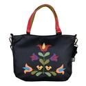 Madárkás, tulipános táska, Táska, Hátizsák, Válltáska, oldaltáska, Népi ihletésű, saját tervezésű minta került erre a táskára.  Tudod hordani vállon és oldaltáskaként ..., Meska