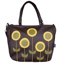 Minimal virágos táska, Táska, Válltáska, oldaltáska, Minimal virágok díszítik ezt a pakolós táskát.  Tudod hordani vállon és oldaltáskaként is.  Mérete: ..., Meska
