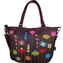 Virágos pakolós táska, Táska, Válltáska, oldaltáska, Bármilyen megjelentést garantáltan feldob ez a vidám virágos táska.  Mérete: 40x30x6 cm  Bélése erős..., Meska