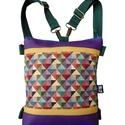 Lila rombuszos táska vendeg324134 részére, Gyönyörű, telt lila és okker textilbőrt kombi...