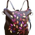 Őszi lomb táska (barna), Táska, Hátizsák, Válltáska, oldaltáska, Ha ősz típus vagy, és szereted a praktikus, nagy méretű, variálható táskákat, ez a te darabod. A tás..., Meska