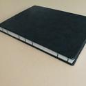 'Tengerkék' könyv, Művészet, Más művészeti ág, Könyvkötés, Saját készítésű Tengerkék könyv, sima, fehér lapokkal és zöld fedlappal, nyitott gerinccel. A méret..., Meska