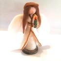 Abigél, Dekoráció, Karácsonyi, adventi apróságok, Ünnepi dekoráció, Karácsonyi dekoráció, Abigél, egy különleges karácsonyi angyal. Gyertyájával nemcsak fényt, hanem szeretetet, melegséget i..., Meska