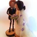 Örökké Veled!, Esküvő, Dekoráció, Nászajándék, Szemedben látom a boldogságom. Téged választalak. Esküvői pár puha gyapjúból formázva. Örök emlék az..., Meska