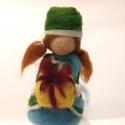 Hanna, Dekoráció, Karácsonyi, adventi apróságok, Ünnepi dekoráció, Karácsonyi dekoráció, Hanna egy tűnemezelt gyapjúlélek, dekoráció. Izgatottan készül a karácsonyi ajándékozásra, s még nem..., Meska
