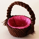 Húsvéti kosárka többféle színben, Dekoráció, Húsvéti díszek, Ünnepi dekoráció, Mindenmás, Igazán mutatós ez a húsvéti kosárka. Vajon tetszene a kedvenc locsolkodódnak? A húsvéti asztalnak i..., Meska
