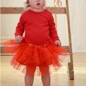 Tütü 20-50 cm-es hosszal választható, állítható derékkal, Ruha, divat, cipő, Gyerekruha, Baba (0-1év), Kisgyerek (1-4 év), Varrás, A hercegnős tütü szoknyánk több rétegű tüll anyagból áll, az alsó rétege pedig batiszt. A kényelmes..., Meska