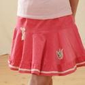 PÖRGŐS kord szoknya, 74-104-es, világos rózsaszín, lány, pamut  csipke díszítéssel , Ruha, divat, cipő, Gyerekruha, Kisgyerek (1-4 év), Baba (0-1év), A világos rózsaszín, pörgős, lány kordbársony szoknya anyaga bőrbarát: 95 % pamut, 5 % elas..., Meska