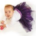 Tütü 20-50 cm-es hosszal választható, állítható derékkal (sötét lila), Ruha, divat, cipő, Gyerekruha, Baba (0-1év), Kisgyerek (1-4 év), A hercegnős tütü szoknyánk több rétegű tüll anyagból áll, az alsó rétege pedig batiszt. A kényelmes ..., Meska