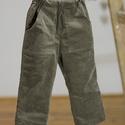 GUMIS derekú, fiú, kényelmes kord nadrág, 62-104-es, keki zöld,  két zsebbel , Ruha, divat, cipő, Gyerekruha, Baba (0-1év), Kisgyerek (1-4 év), A fiú kordbársony nadrágunk anyaga bőrbarát: 95% pamut, 5% elasztán ( ez utóbbitól válik sztreccsé a..., Meska