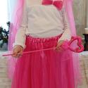 HERCEGNŐ/KIRÁLYNŐ jelmez, hercegnős TÜTÜ 43-70 cm-es hosszal választható, állítható derékkal (sötétrózsaszín,sima,gyön.), Ruha, divat, cipő, Gyerekruha, Gyerek (4-10 év), Kamasz (10-14 év), Szerezz örömet kislányodnak farsang, születésnap vagy jelmezes buli alkalmával!  A hercegnő jelmez t..., Meska
