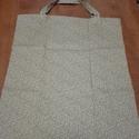 Textil bevásárló szatyor/táska, Táska, Szatyor, Varrás, Nem kell zacskó! Környezetbarát textil bevásárló táskák. Méretük 45x35 cm + 12 cm a fül, ami megerő..., Meska