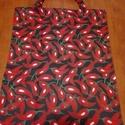 Tett l bevásárló szatyor/táska, Táska, Szatyor, Varrás, Nem kell zacskó! Környezetbarát textil bevásárló táskák. Méretük 45x35 cm + 12 cm a fül, ami megerő..., Meska