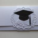 Pénzátadó boríték diplomaosztóra, Naptár, képeslap, album, Ajándékkísérő, Gyöngyházfényű kartonból készítettem pénzátadó borítékot diplomaosztóra.  Mérete: 18,5..., Meska