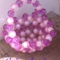 Kosár gyöngyből, Dekoráció, Otthon, lakberendezés, Dísz, A kosarakat zeus85 kérésére készítettem. A kosarakat 12 mm-es  lila és rózsaszín, valamint r..., Meska