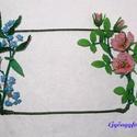 Falikép dísz gyöngyből, Dekoráció, Otthon, lakberendezés, Falikép, Ez az ajándék elsősorban egy falra akasztható dísz, amit kb.14 cm széles és kb. 22 cm hosszú..., Meska