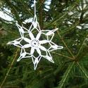 horgolt hópehely, Dekoráció, Karácsonyi, adventi apróságok, Karácsonyfadísz, Karácsonyi dekoráció, Saját készítésű horgolt hópelyhek,fenyőfára,ajándékba és dekorációnak. Mérete kb:12cm, Meska
