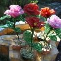 Rózsa gyöngyből , Kásagyöngy és drót felhasználásával készü...