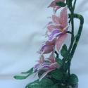 Szerencse bambusz és orchidea gyöngyből. (Gyongykertesz) - Meska.hu