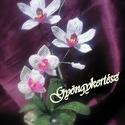 Fehér orchideák gyöngyből (Gyongykertesz) - Meska.hu