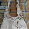 Virágos kétoldalas táska