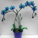Lepke orchidea türkiz színben, Rendelésre készítettem ,így ezt a terméket cs...